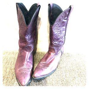 Women's Purple cowboy boots, Leather, vintage